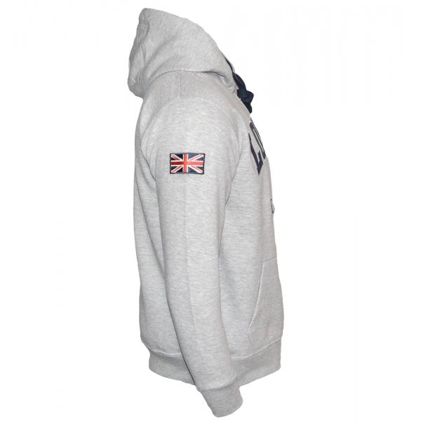 Unisex London England Zipped Hoodie Hooded Sweatshirt Grey Navy XS-2XL