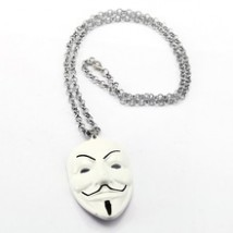 Anonymous Necklace For Kids - White