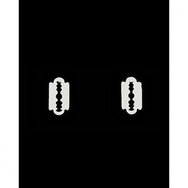 Le Shop Stainless Steel Micro Razor Blade Stud Earrings