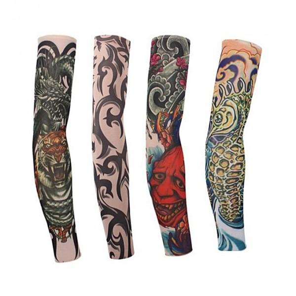Simple Ultraviolet Tattoo Sleeves Art Arm Stocking (Random Design)