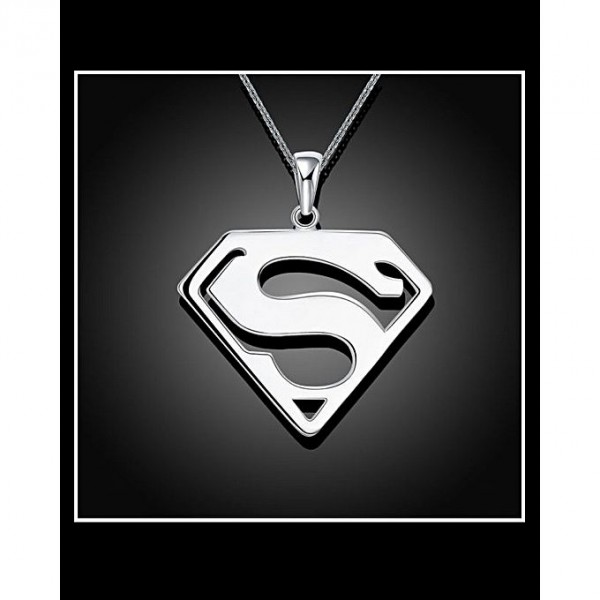3D Metal Model Superman Pendant Necklace