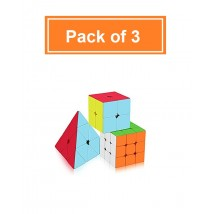 Cube Set of 2x2x2 3x3x3 Pyramid Frosted Puzzle Cube