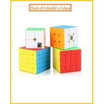 Imported Pack Of 4 RubikS Cubes -  2X2  3X3  4X4  5X5