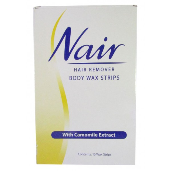 NAIR HAIR REMOVER WAX STRIPS WITH CAMOMILE 16 WAX STRIPS
