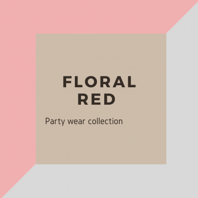 Love Red Floral Color Party Wear Suit For Women
