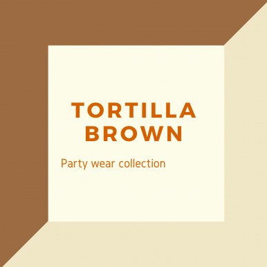 Tortilla Brown Color Party Wear Suit For Women