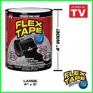 Flex Tape 4 x 5 Rubberized Waterproof Tape - Black