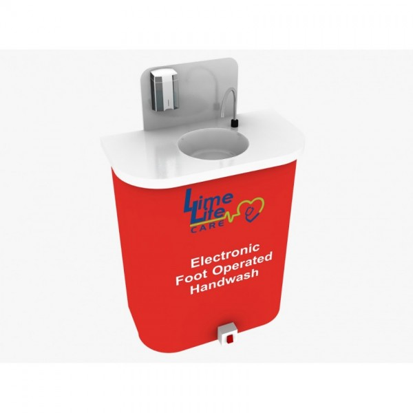 Portable Hand Wash System - Electronic Foot Operated