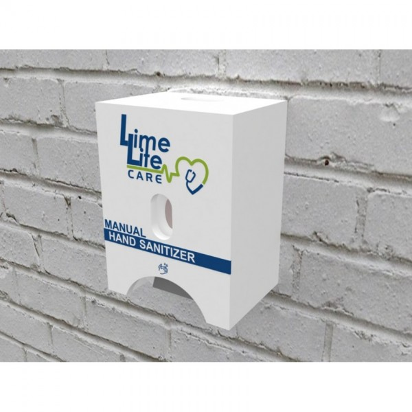 Manual Sanitizer Dispenser With Cover Box (wall mount)