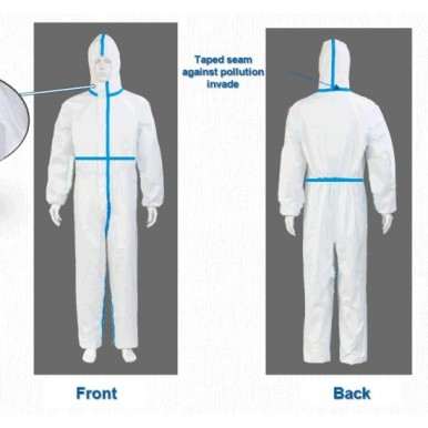 Body Safe  Non-Woven protection suit - Washable - Export Grade (Blue Strip)