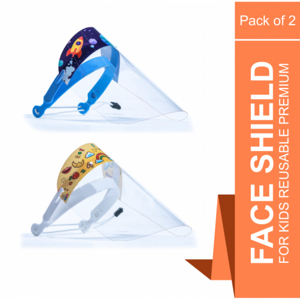 Reusable Premium Face Shield for Kids - Pack of 2