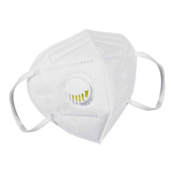 KN95 Mask in White Colour - 4 Layer - With Filter