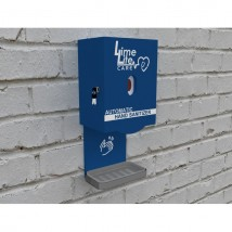 Automatic Sanitizer Dispenser with Cover Box and Dispense Tray (wall mount)