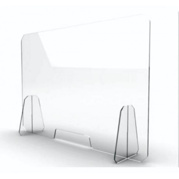 Portable and Clear Protective Shield for Counter and Desk