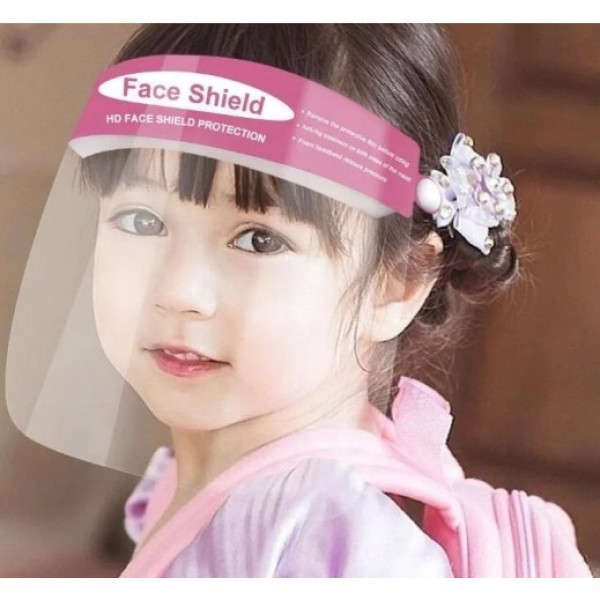 Pink Reusable Premium Face Shield for girls - Pack of 2
