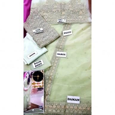 Bridal Net Embroidery Saree