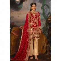 New Collection of Partywear full  Chiffon Embroidery Suit With golden work