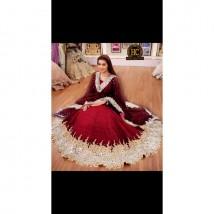 Bridal Chiffon Embroidery Maxi with Embroidery Net Dupatta