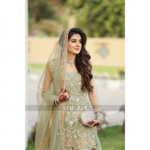 Net Bridal Embroidery Suit Net Embroidery Duppata