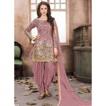 Indian Chiffon Suit Full Embroidred Mirror Work and Silk Trouser With Chiffon Embroidred Dupatta