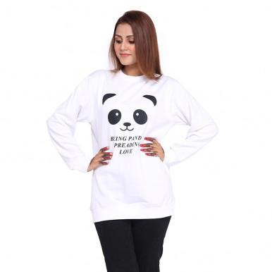 BEING PANDA LOVE SWEATSHIRT FOR WOMEN