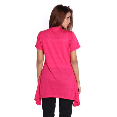PINK FLORAL PRINT TOP FOR WOMEN