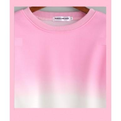 PINK OMBRE SWEATSHIRT FOR WOMEN