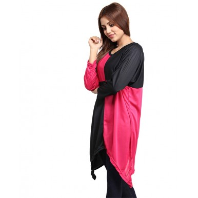 PINK and BLACK LOOSE TOP FOR WOMEN