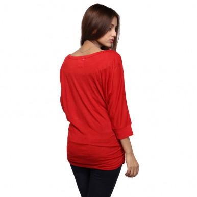 RED DOLMEN TOP FOR WOMEN