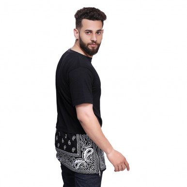 BANDNA BOTTOM PRINTED TSHIRT FOR MEN