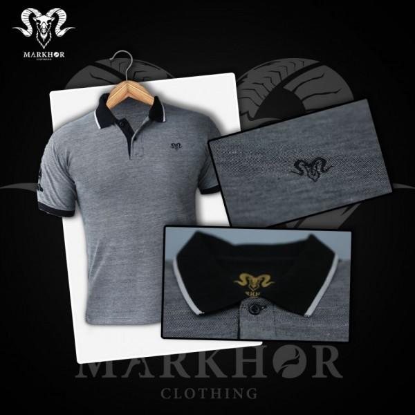 Black Color Pique Cotton Summer Polo Shirt For Men