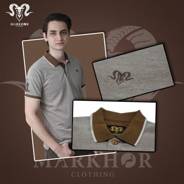 Brown Color Pique Cotton Summer Polo Shirt For Men