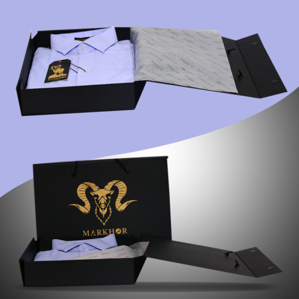 Royal Violet Chambray Cotton Slim Fit Formal Shirt For Men