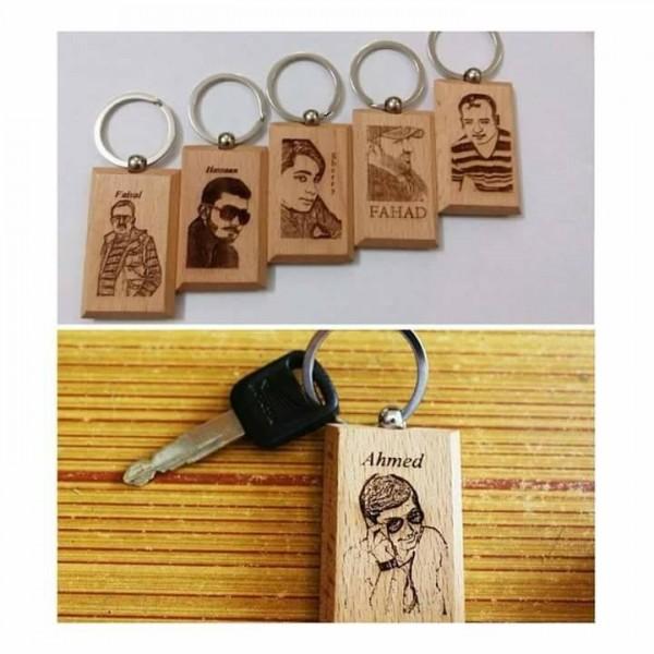 Customized wooden Keychain TG-92