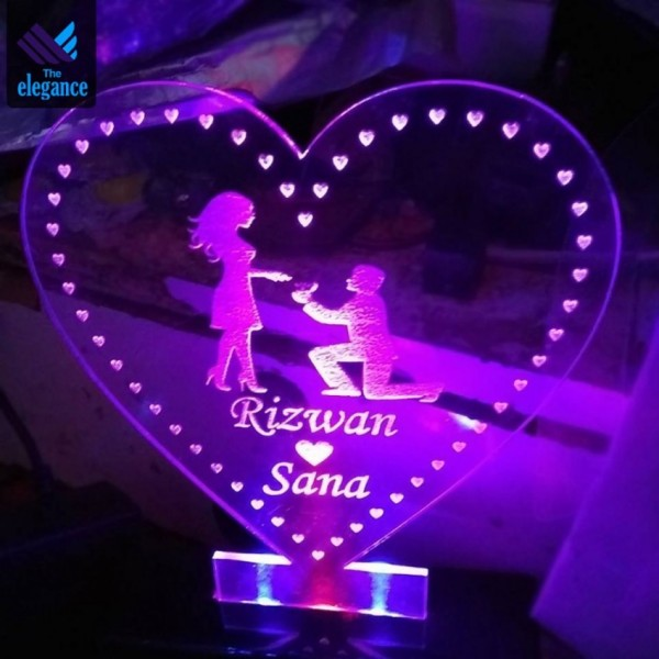 Customized Heart Lamp with LED light