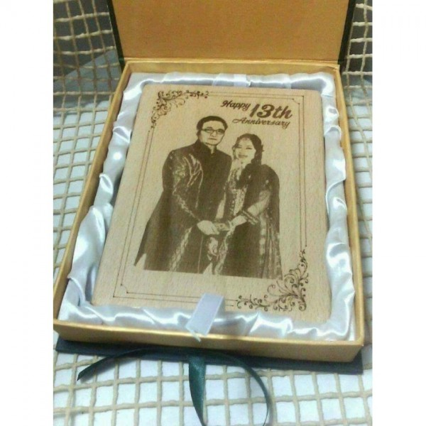 Customized Wooden Photo Plaque With Box