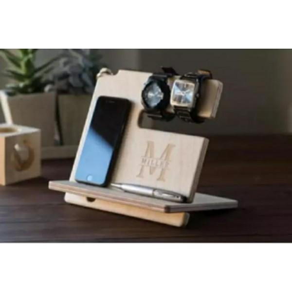 Customized Wooden Desk Organizer