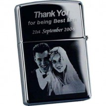 Customize Lighter in silver and black color