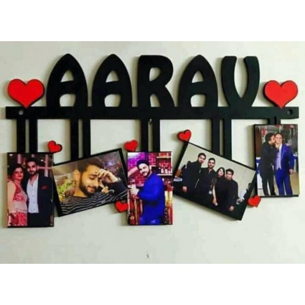 Customized Name and pictures Frame