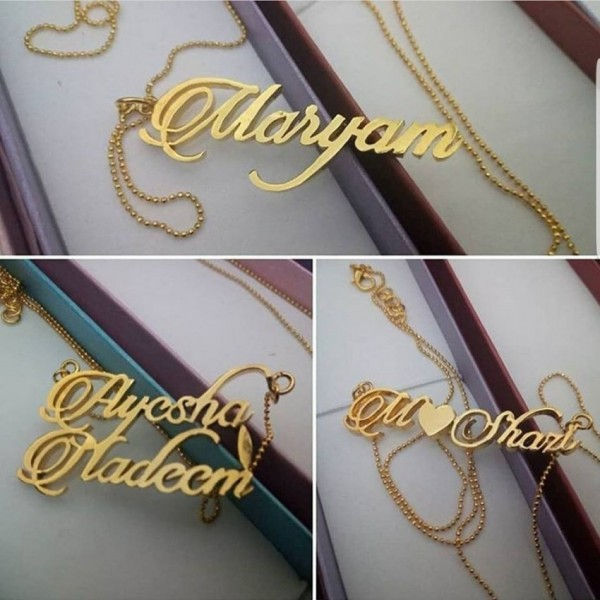 Customized Necklace in Gold color