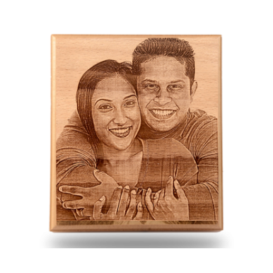 Customized Wooden Photo Plaque Without Box