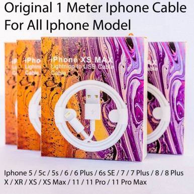Original 1 Meter Lightning Fast Charging Data Cable For Iphone