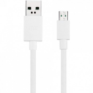 ORIGINAL VOOC 1 Meter Micro USB Fast Charging Data Cable For Oppo - White