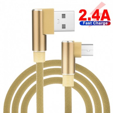1 Meter Micro USB 3.0 Data Cable For All Brands - Light Brown
