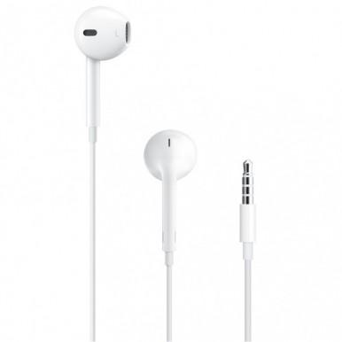 Iphone EarPods With 3.5mm Headphone Plug Handsfree Earphones - White