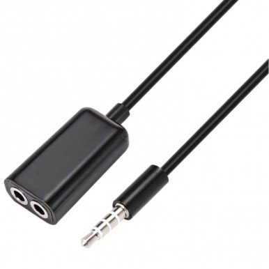 Earphone Headphone 3.5mm Audio Splitter Divider in Black Color