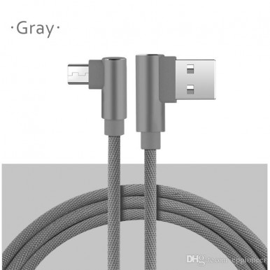 1 Meter Micro USB 3.0 Fast Charging Cable + Data Cable  All Brands - Grey