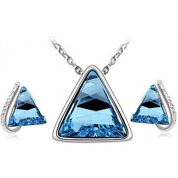 Triangle Jewellery Set for Women - Blue