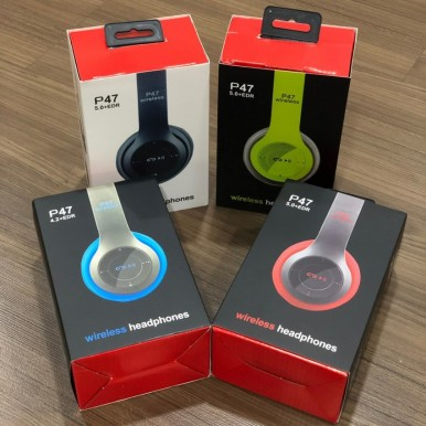 Wireless Bluetooth P47 Stereo Headphones With Memory Card Port