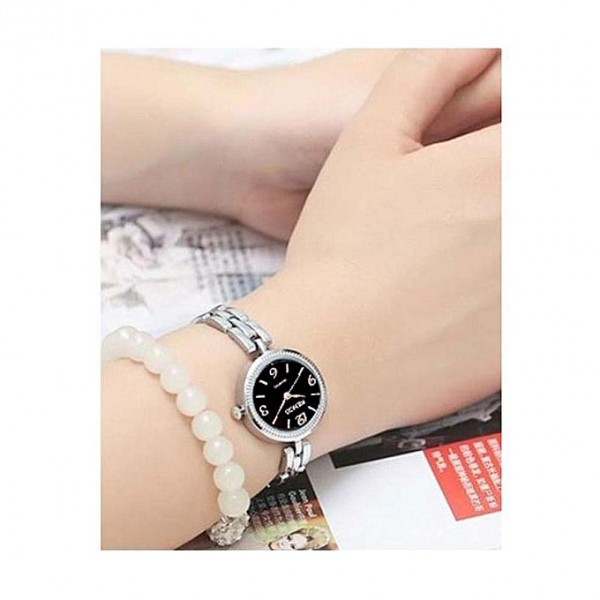 Delicate Silver Chain Watch For Women perfect for gifts- C11